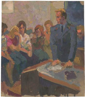 Alexandrovich Rudolf Pavlov. Judicial sitting. Etude. 1974