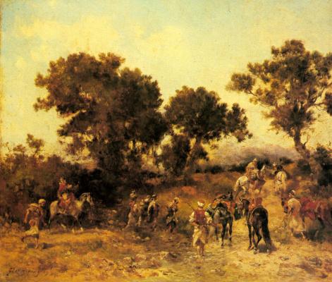 Джордж Вашингтон Уистлер. Арабская групповая охота