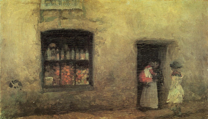 James Abbot McNeill Whistler. Orange note: Pastry shop