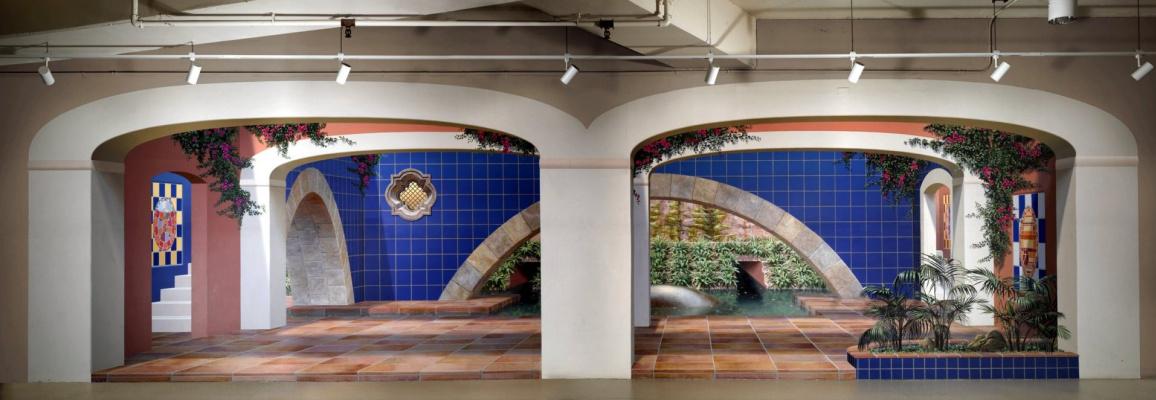 John Pugh. Baños de los Cielos (Heavenly Baths) / Painted by the Medical Center