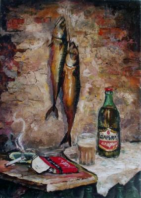 Васоевич Мераб Кочиев. Нотюрморт с рыбой