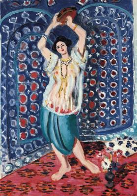 Henri Matisse. Odalisque with tambourine (Harmony in blue)
