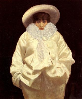 Джузеппе де Ниттис. Сара Бернар в образе Пьеро