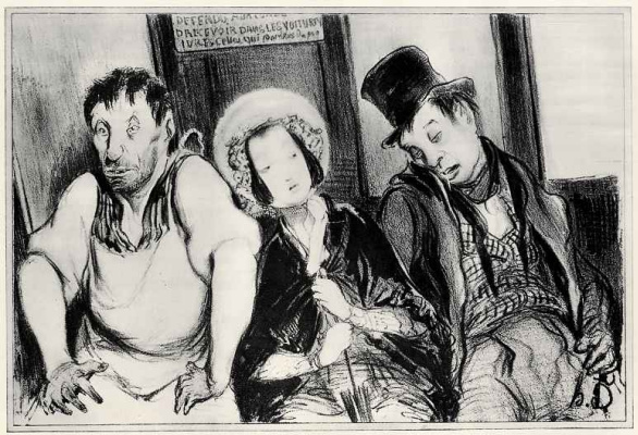 Honore Daumier. Social contrasts