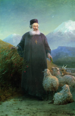 Ivan Constantinovich Aivazovski. Catholicos khrimian in Echmiadzin surrounding area