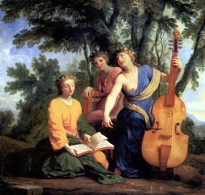 Ezstache Lesuer. The Muses: Melpomene, Erato, Polyhymnia