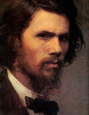 Ivan Nikolayevich Kramskoy. A self-portrait. Fragment
