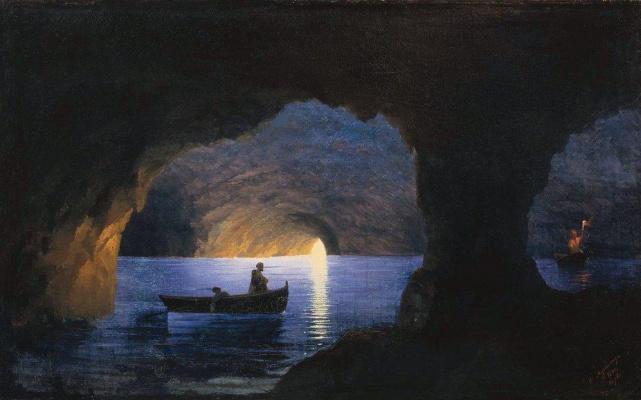 Ivan Constantinovich Aivazovski. Azure grotto. Naples