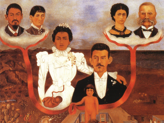Frida Kahlo. My grandparents, my parents and I