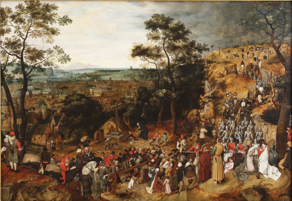 Peter Brueghel The Younger. The ascent to Calvary