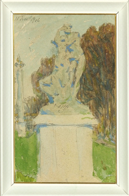 Александр Васильевич Шевченко. Скульптура в парке. Париж. 1906