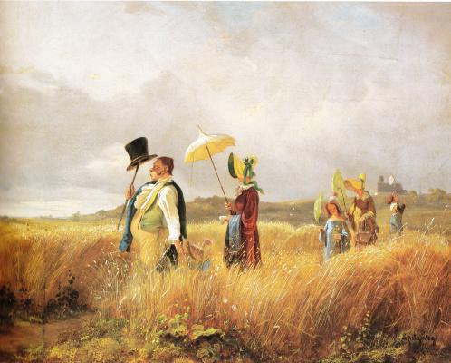 Karl Spitzweg. Sunday walk