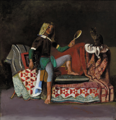 Balthus (Balthasar Klossovsky de Rola). Le Chat Au Miroir III