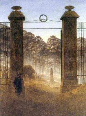 Caspar David Friedrich. Entrance to the cemetery