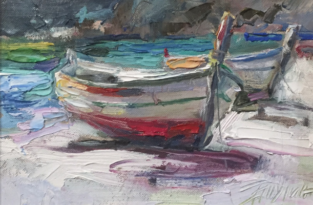 Pavel Tyapugin. The boats. Spain. Based on the work of Oleg Trofimov.
