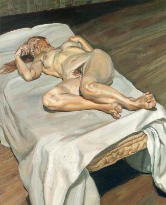 Lucien Freud. Night portrait