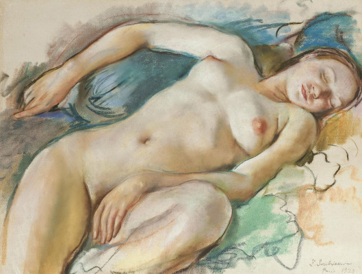 Zinaida Serebryakova. Reclining sleeping Nude