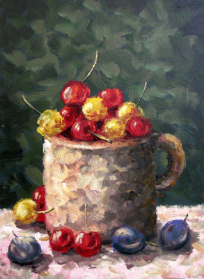 Yuri Vladimirovich Sizonenko. Mug with cherries.