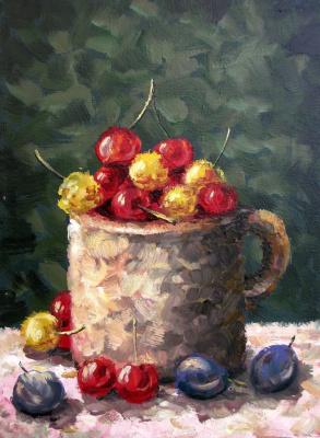 Yuri Vladimirovich Sizonenko. Mug with cherries.