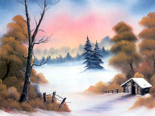 Bob Ross. Winter shelter