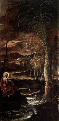 Jacopo (Robusti) Tintoretto. Mary of Egypt in the wilderness