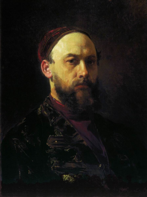 Sergeevich Firs Zhuravlev. Self portrait. State Tretyakov Gallery, Moscow