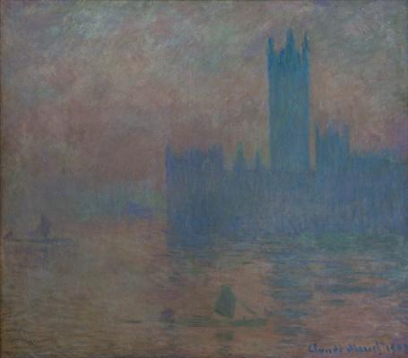 Клод Моне. Здание парламента, эффект тумана