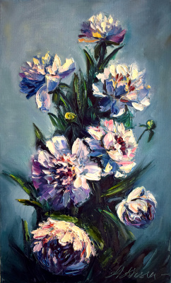 Anastasia Arsenova. Bouquet of peonies
