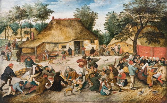 Peter Brueghel The Younger. Wedding feast in the village II