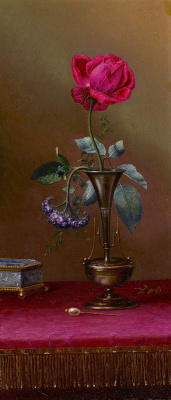 Martin Johnson Head. Still life with a rose and heliotrope in a vase, a box and a hairpin for hair