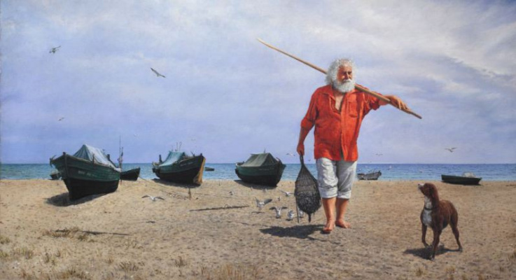Valentin Revelioti. Old fisherman