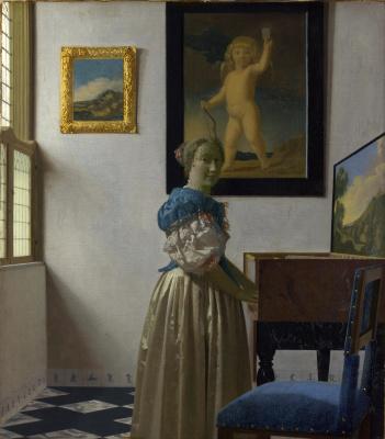 Jan Vermeer. The lady standing at virginal