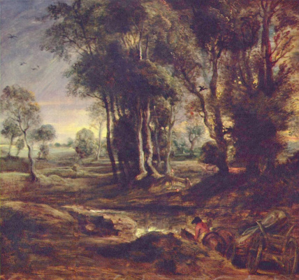 Peter Paul Rubens. Evening landscape