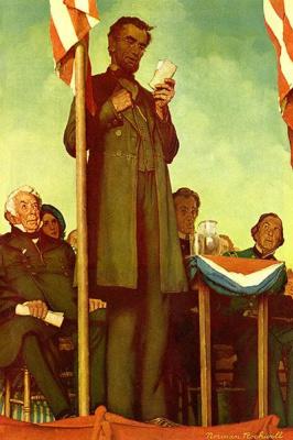 Norman Rockwell. Gettysburg address Abraham Lincoln November 19, 1863