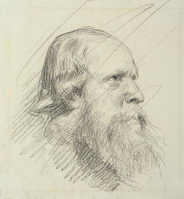 Исаак Ильич Левитан. Старик с окладистой бородой