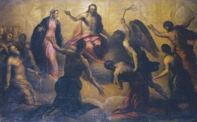 Jacopo Palma Junior. Jesus at the last judgment