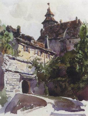Василий Дмитриевич Поленов. Уголок средневекового города со стеной
