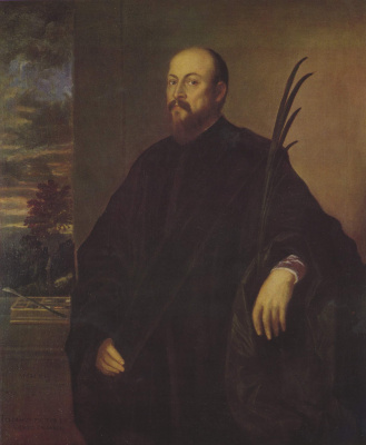 Titian Vecelli. Portrait of a winegrower Alvise dalla Scala