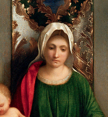 Giorgione. Altar of Castelfranco. Fragment: Maria
