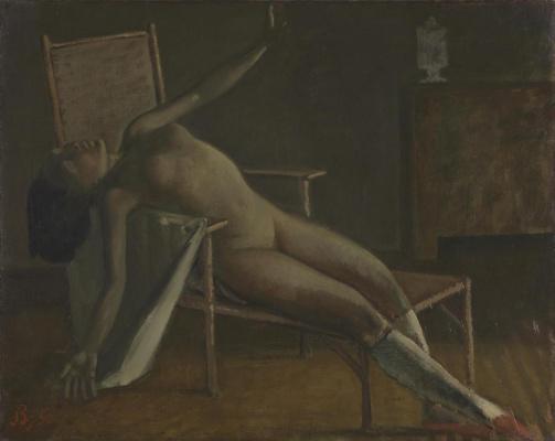 Balthus (Balthasar Klossovsky de Rola). Nude on a lounger