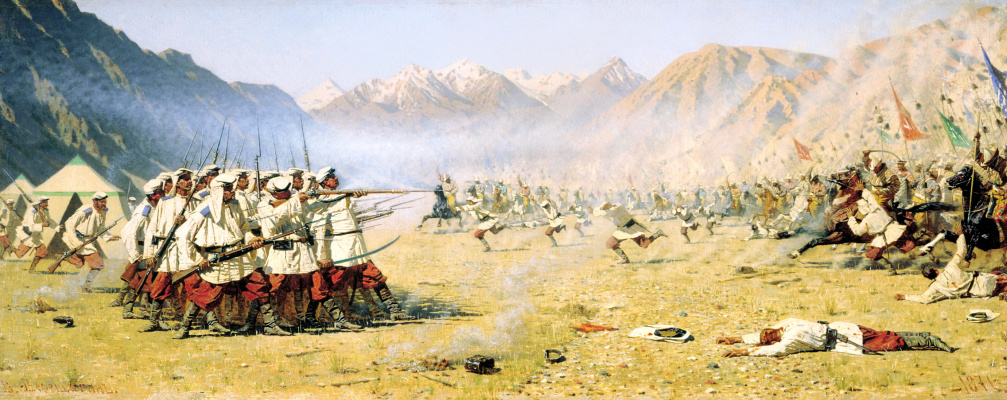 Vasily Vereshchagin. Attack by surprise