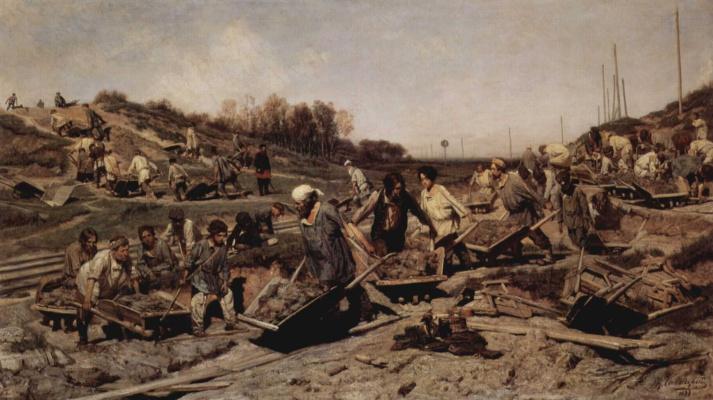 Ремонтные работы на железной дороге