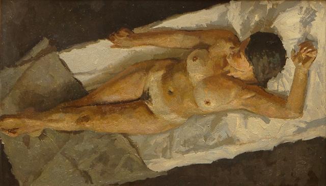 "Heliy Mikhailovich Korzhev. Study for the painting ""Spring of 1945"""