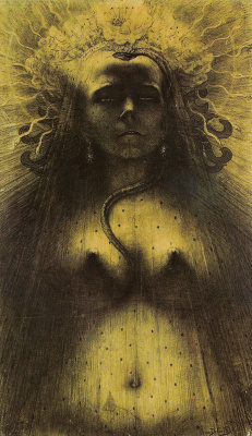 Jean Delville. Idol of Viciousness