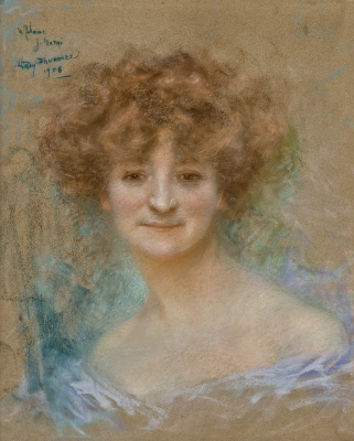Lucien Levi-Durme. Female portrait. 1908