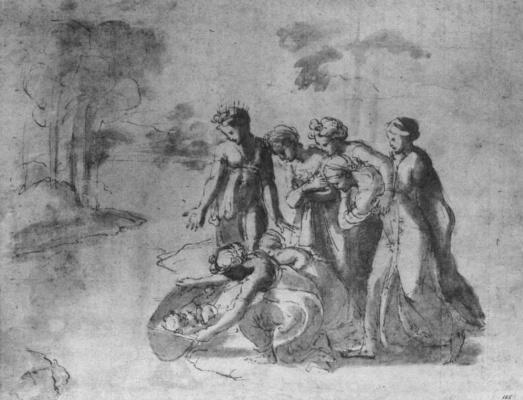 Джованни Франческо Пенни. Нахождение Моисея