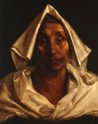 Théodore Géricault. Portrait of an elderly Italian