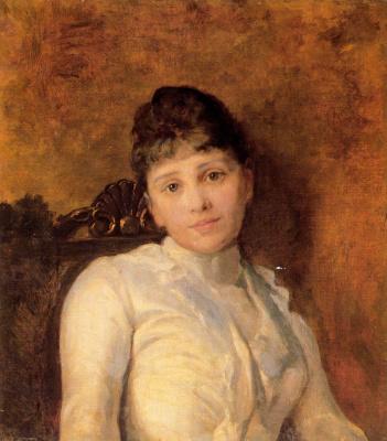 Nikolay Aleksandrovich Yaroshenko. Portrait of a young lady