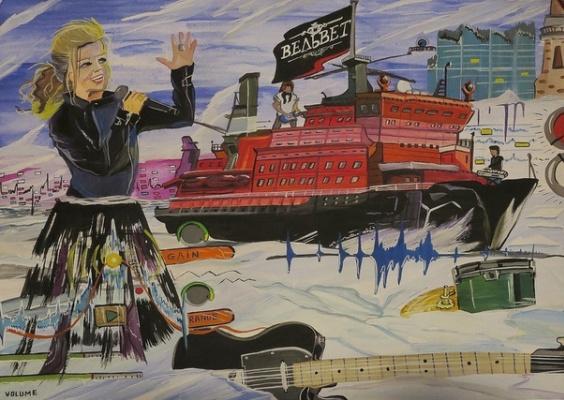 Nikolai Nikolaevich Olar. Illustration for the song Velvet - Captain Arctic