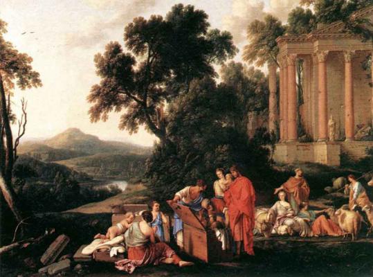 Лоран де Ла Хайр. Лаван ищет в багаже Иакова  украденных идолов